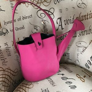 1990's spring summer pink watering can bag purse
